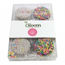 Elegant Chocolate Covered Oreo® Gift Box / 6 Pack. (3 Confetti Sprinkles & 3 White Nonpareil Sprinkles)