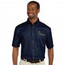 Men's Short Sleeve Twill Shirt - Navy