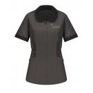 Red Kap Women's Linden Grey Microfiber Shawl Collar Tunic